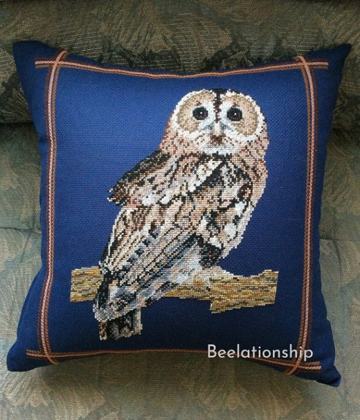 Owl of Britain Cushion
