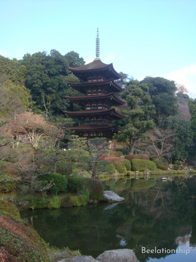 Rurikoji Temple's five-storied pagoda