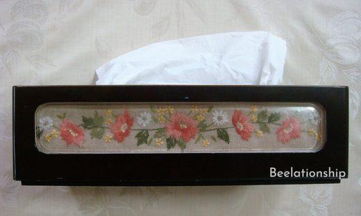 Coral Pink Flower TIssue Case