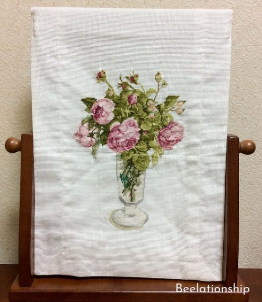 French Rose Mirror Cover