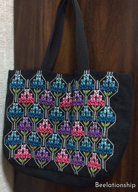 Pink Blue Purple Flowers Tote Bag