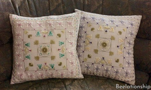 Purple and Pink Flowers Cushions