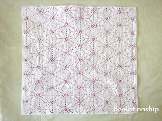 Hemp Leaf Sashiko Kitchen Cloth
